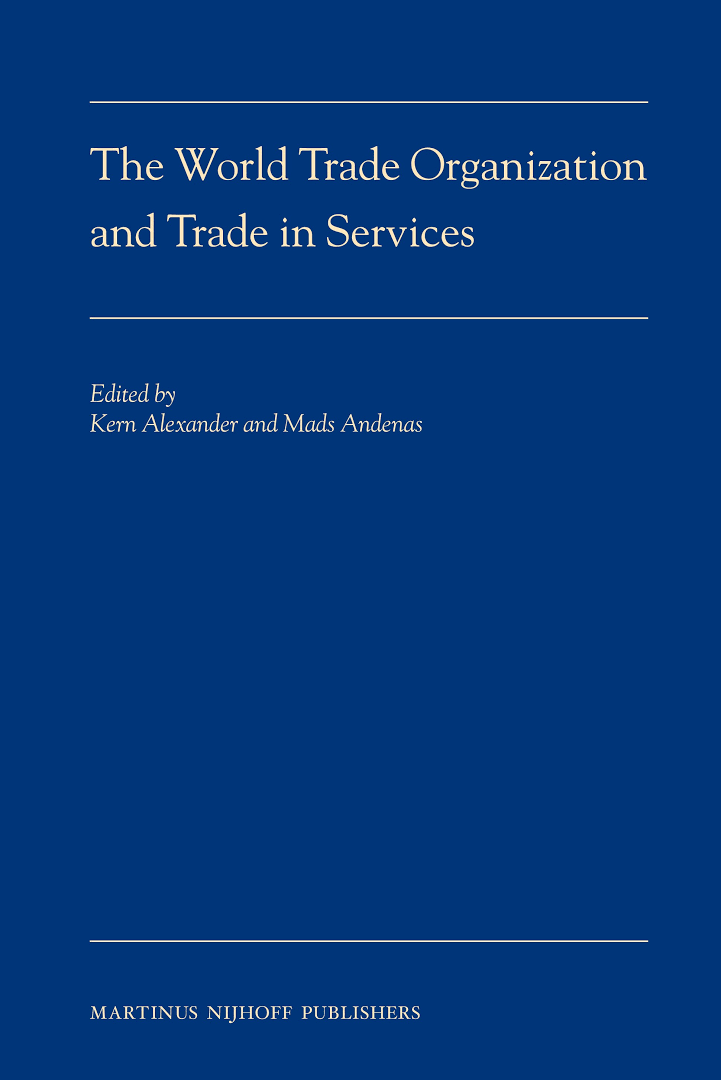 Cover of 'The World Trade Organization and Trade in Services'